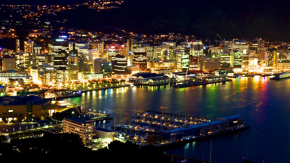 Wellington night skyline